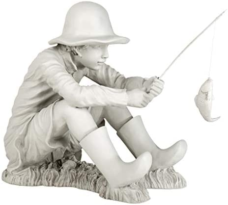 Design Toscano EU9288 Gone Fishing Fisherman Boy Garden Statue
