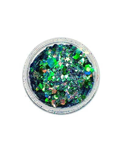 iHeartRaves Green Lunautics Moon Dust Everglades Vegan Chunky Glitter (One -
