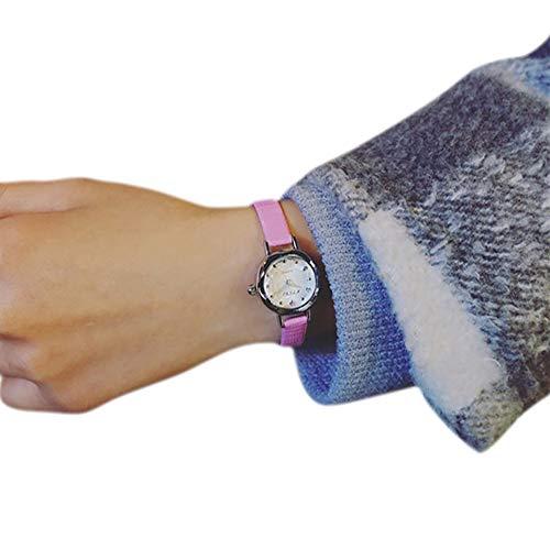 - Women Quartz Wrist Small Dial Delicate Luxury Business Watches,Outsta Bracelet Strap Analog Watch (Pink)