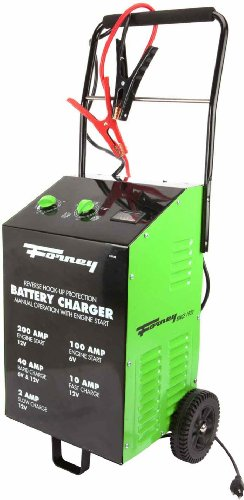 Forney 52725 Wheeled Battery Charger, 2/10/40/200-Amp, 6/12-Volt by Forney