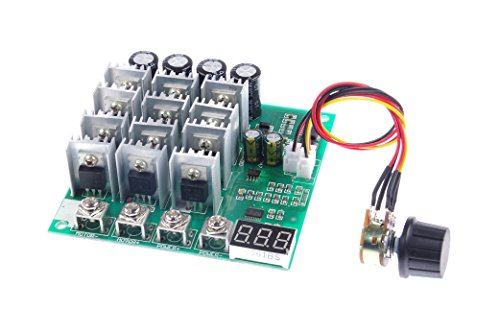 KNACRO PWM DC motor driver 60A DC 12V/24V/36V/48V 10-50V Forward Reverse switch Tachometer brush motor inverted module Maximum power 3000W
