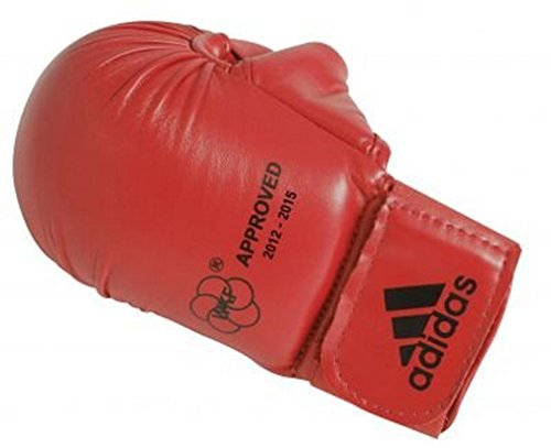 Adidas Karate Faustschützer mit Daumen rot