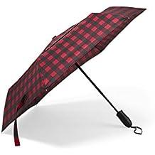 Eddie Bauer Unisex-Adult Auto Open/Close Umbrella, Scarlet Regular ONESZE Regula