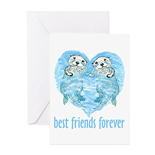 CafePress - Best Friends Forever - Greeting Card, Note Card, Birthday Card, Blank Inside Glossy