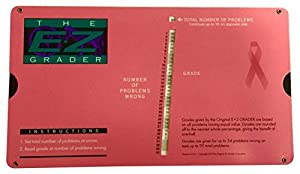 Grading Calculator - E-Z Grader Teacher's Aid Scoring Chart - Breast Cancer Edition (Pink) - 8-1/2 x 4-3/4 by E-Z Grader