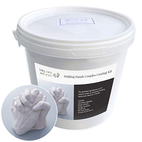 Large 3kg Pack Adult Hand 3D Casting Kit Anniversaries Silver Colour Valentines /… + Free Offer Family Alginate Casting Couples Gift for Weddings