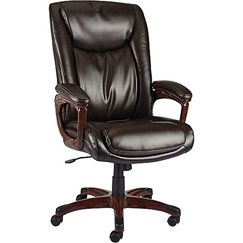 Staples Westcliffe Bonded Leather Managers Chair, Brown - Leather Staples Chair