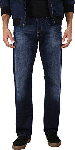 Mavi Jeans Men's Myles Midrise Straight Leg in Dark Williamsburg Dark Williamsburg Jeans 33 X 32