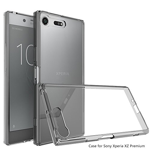 Price comparison product image Sony Xperia XZ Premium Case [Smoke Black],Ucc Crystal Clear,TPU Bumper Ultra Slim Protective Case with Anti-Scratch for Sony Xperia Premium [Crystal Smoke Black]