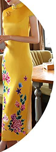切る腐食する夢中チャイナドレス長いスリム春と秋のレトロシミュレーションシルクベルベット,320色,ザ?