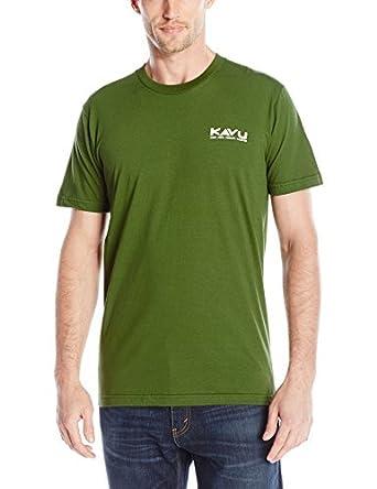 Kavu Hombres Camisa de Barry Gran Ola, Hombre, Color Verde Oliva, tamaño XXL: Amazon.es: Ropa y accesorios