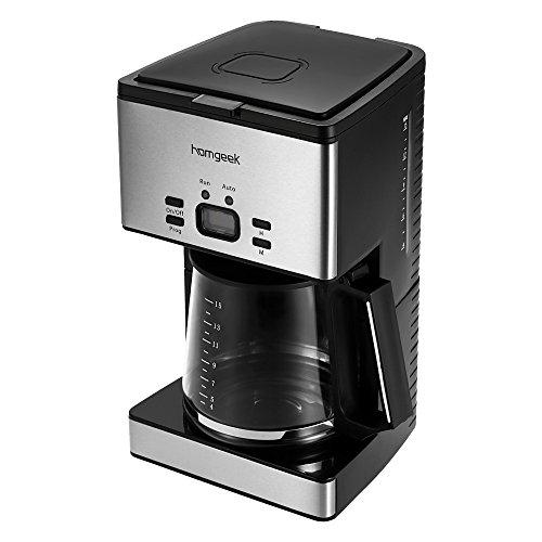 Homgeek CM6626T - Cafetera de goteo con temporizador, 1.8 litros ...
