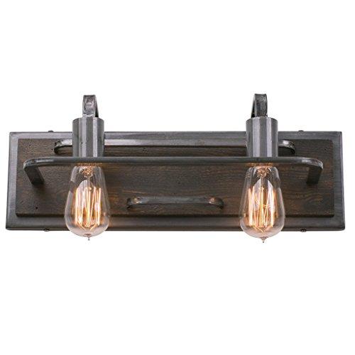 Varaluz Wall Lighting (Varaluz 268B02SL Lofty 2-Light Vanity - Steel Finish)