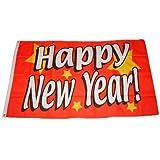 Flagge Fahne Happy New Year 90 x 150 cm FLAGGENMAE®