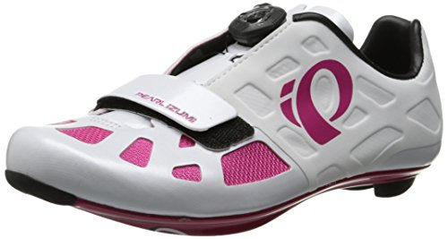 Pearl Izumi Women's W Elite RD IV Cycling Shoe, White/Pink Punch, 39.5 EU/7.9 B US