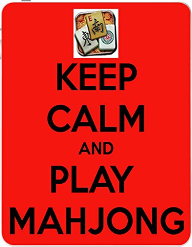 Keep Calm and Play Mahjong Vinyl Decal Sticker Skin by Debbie's Designs for iPad