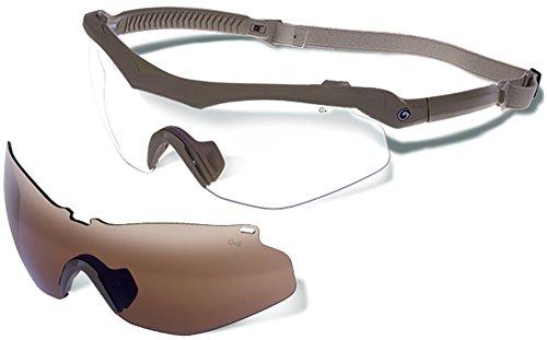 - Gargoyles Trench Safety Glasses, Matte Tan
