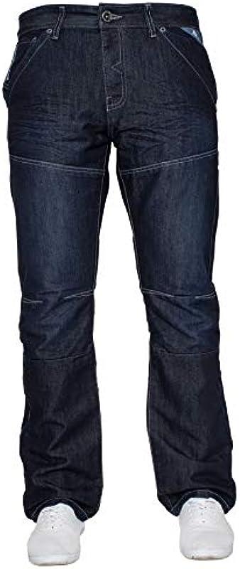 Enzo designerskie męskie spodnie dżinsowe o prostym kroju, krÓj regularny: Odzież