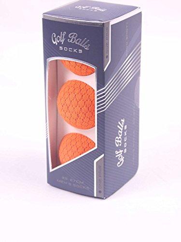 ゴルフソックス ゴルフボール オレンジ メンズ