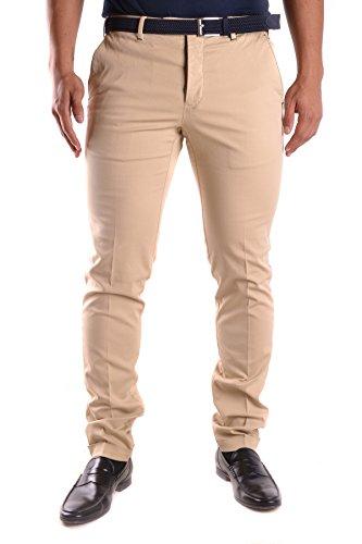 Pt01 Homme MCBI247037O Beige Coton Pantalon