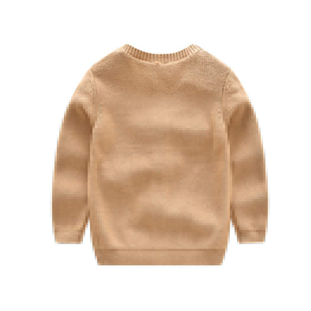 HANMAX Baby Girls Boys Children Long Sleeve O-Neck Warm Pullover Knitted Sweater