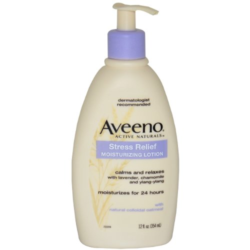 Aveeno active Stress Relief Naturals Lotion hydratante, Flacon pompe de 12 onces