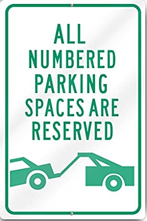 12 x 18 Cartoon Ostrich PetKa Signs and Graphics PKRP-0188-RA/_Reserved Parking for Ostriches Aluminum Sign