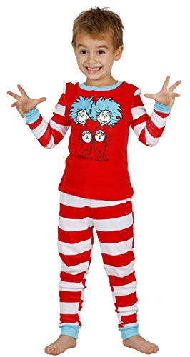 Dr. Seuss Cat in The Hat Thing 1 and Thing 2 Boys Cotton Pajamas Set, Size 6