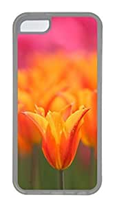 iPhone 5C Case, Customized Protective Soft TPU Clear Case for iphone 5C - Tulips Cover