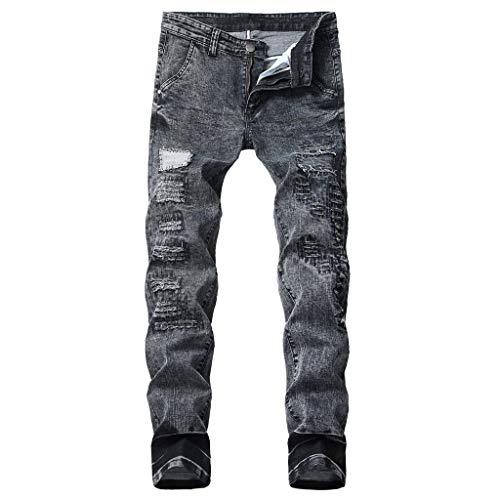 Stoota Men's Slim Fit Ripped Zipper Stretch Denim Trousers (Online Outlet Für Herren)