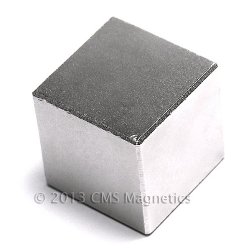"""CMS Magnetics® Neodymium Magnet N45 1"""" Cube NdFeB Rare Earth Magnets 1-Count"""