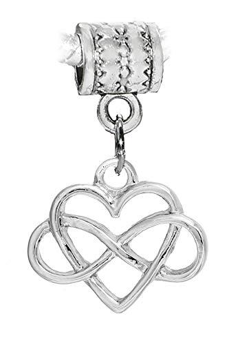 Infinity Sign Heart Everlasting Eternal Love Charm for European ()