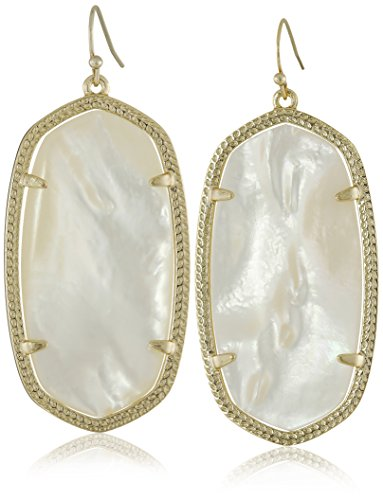 "Kendra Scott ""Signature"" Danielle Gold plated Ivory Mother-of-Pearl Drop Earrings"