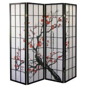 Blossom Plum Designs - Cherry Blossom Design Room Divider 4 Panel
