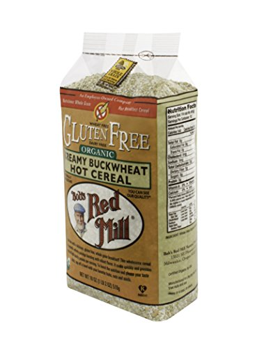 - Bob's Red Mill Gluten Free Organic Creamy Buckwheat Hot Breakfast Cereal, 18 Oz (4 Pack)