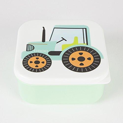 Boîte à sandwiches carrée «tracteur» - 12 cm