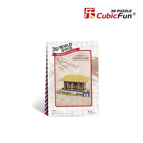 Cubicfun Cubic Fun 3d Puzzle Model 35pcs Korean Thatched House
