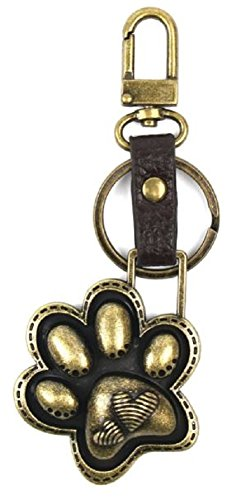 (Chala Charming Key Chain Purse Bag Fob Charm Cat or Dog Paw Print )