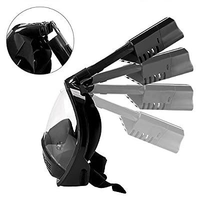 Elite O&S Snorkel Mask Foldable Full Face Snorkeling Mask Easybreath 180¡ã Panoramic Snorkel Mask with Anti-Fog Anti-Leak Snorkeling Design for Adult and Kids