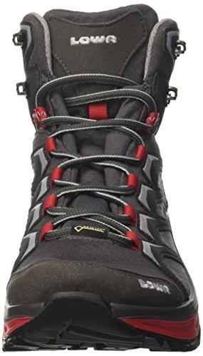 Lowa Herren Multifunktionsstiefe Innox GTX Mid Trekking-& Wanderstiefel Grau (Graphit/rot 9717)