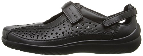 Jane Mary Leder Smooth Klogs Frauen Zeh Via Footwear Geschlossener Flats Black nn0TU4q