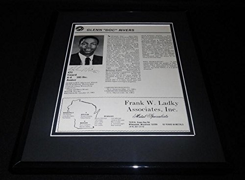 Signed Doc Rivers Photograph - Facsimile Framed 11x14 ORIGINAL 1982 Marquette Program Display - Autographed NBA Photos