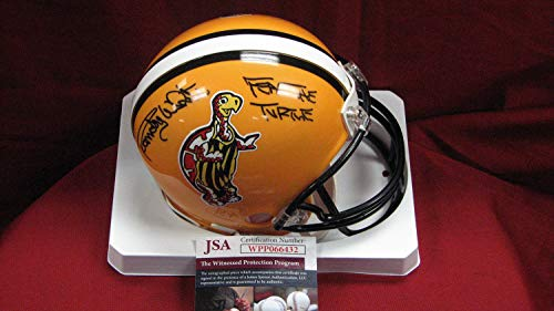 Randy White Autographed Signed Memorabilia Maryland Custom Yellow Mini Helmet With Fear The Turtle - JSA Authentic