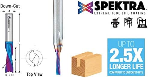 46348-K Solid Carbide Spektra Extreme Tool Life Coated Spiral Plunge for Soli Amana Tool