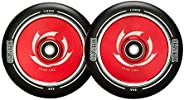 CLAS FOX 1 Pair Pro Stunt Scooter Wheel 110mm Hollow Wheels with ABEC 9 Bearings for MGP/Razor/Lucky/Envy/Voku
