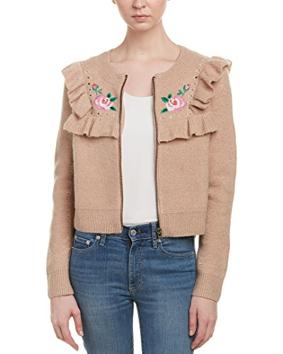 Wildfox Women's Bed of Roses Elliot Jacket Cardigan, Desert Dunes, (Embroidered Bed Jacket)