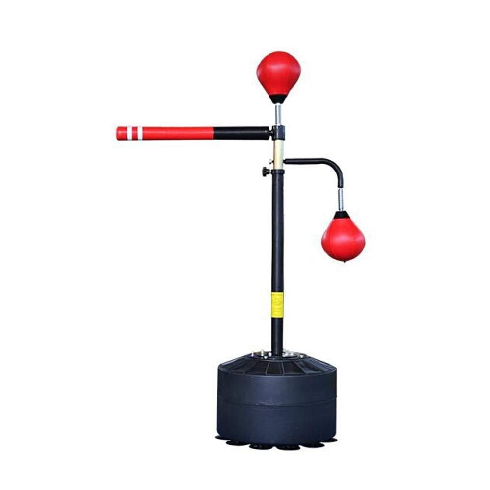 HUCHAOQIXIU ボクシングサンドバッグ、多目的ボクシングターゲットサンドバッグ、フィットネストレーニング機器、高さ調節可能 赤