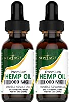 (2-Pack) Hemp Oil Extract for Pain & Stress Relief - 1000mg of Organic Hemp Extract - Grown & Made in USA - 100% Natural...