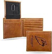 Rico Industries Laser Engraved NFL Brown Billfold Wallet