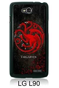 Game of throne Black LG L90 Screen Cover Case Genuine and Newest Design